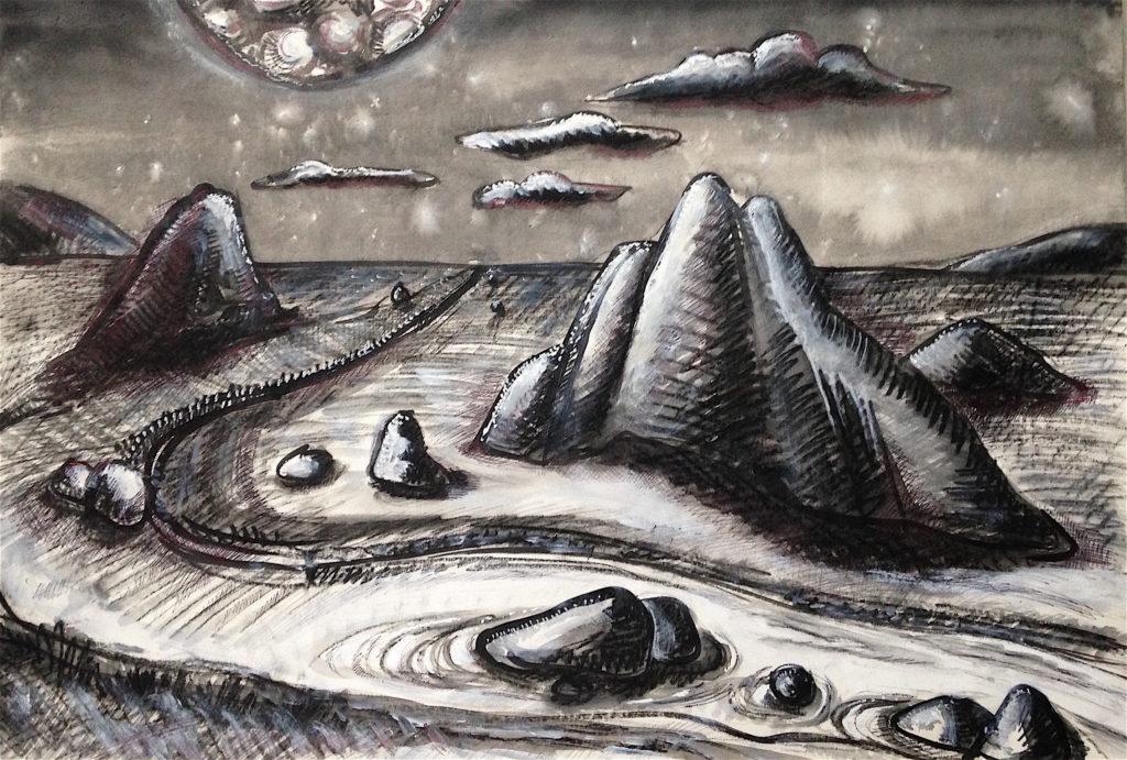 paysage lunaire